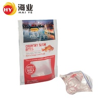 Custom printed laminated plastic fish bait fish feed bag with clear window