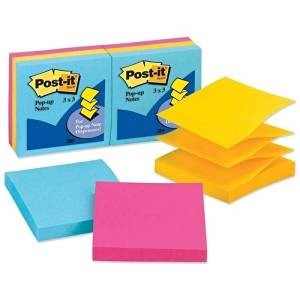 "3M Commercial Office Supply Div. Post-It Notes,Pop-Up,3""X3"",100 Sh/Pd,6/Pk,Ultra Assorted - 3M Commercial Office Supply Div. Post-It Notes,Pop-Up,3""X3"",100 Sh/Pd,6/Pk,Ultra Assortedpost-It Pop-Up Ref"