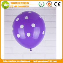 "China Wholesale Dot 10"" 12"" Inch Digital Number latex dot Balloon"