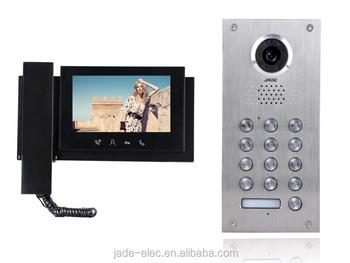 Digital Keypad Video Door Entry System 4 Wire Video Door Phone