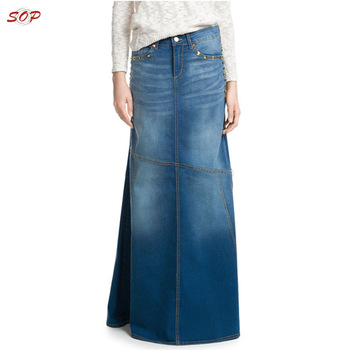 3b566bb6e19b Plus Size Wholesale Long Denim Skirts Maxi For Ladies - Buy ...
