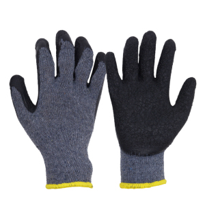 PRI winter working gloves latex coated cotton gloves dipping machine working gloves