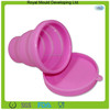 Portable 200ml Eco-friendly folding silicone rubber folding cup with lid