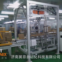 fully automatic wet wipe case packer with carton erector delta robot and carton sealer