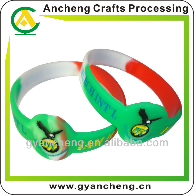 Customized Logo Embossed Bracelets De Silicone En Puerto Rico With Particular Logo