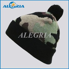 custom 100% acrylic camouflage color beanie