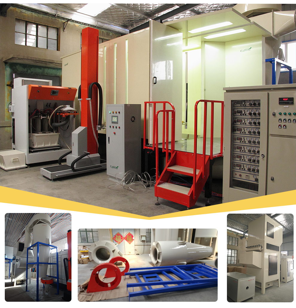PCB-72004/PCB-72004(V) Automatic Plastic Furniture Big Cyclone Powder Coating Spraying Booth Room