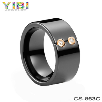 Ceramic silver diamond jewelry men rings jewelry latest wedding ring designs