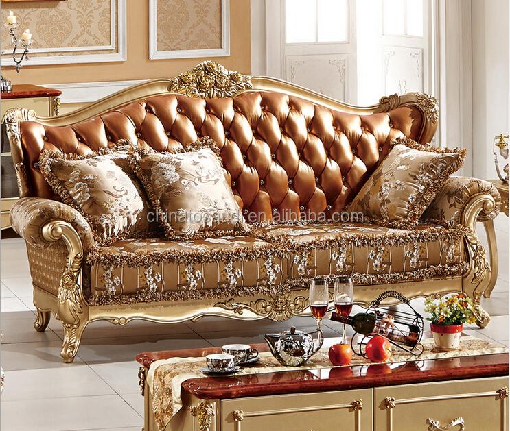 De lujo de lujo de estilo barroco europeo living room sofa for Salon egyptien