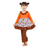 2018 new design holiday kids costumes clothes fall girls children clothing set halloween outfits