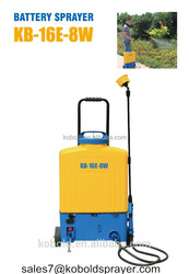 16L Agricultural Electric Power Knapsack Battery Sprayer With Wheel for Farming