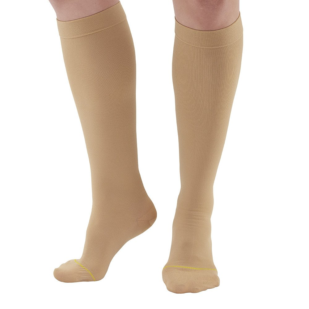 abe156c9c14 Get Quotations · Ames Walker AW Style 222 Anti-Embolism 18 mmHg Compression Closed  Toe Knee High Stockings