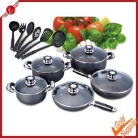 16 pcs non-stick kitchenware set aluminum pan aluminum cookware cast iron ceramic cookware