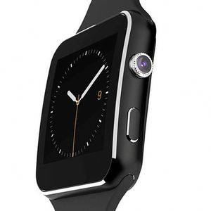 x6 Smart Watch, Touch Screen WristWatch with Camera/SIM Card Slot/Pedometer  Analysis/Sleep Monitoring for Android