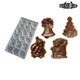 Santa Christmas sledge bell tree polycarbonate chocolate candy molds
