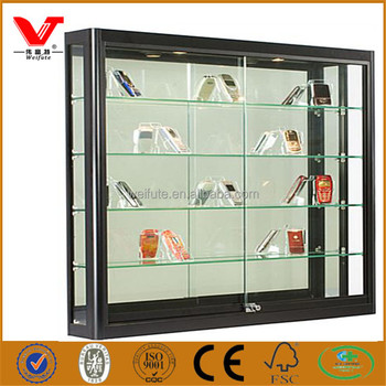 Wall Glass Display Showcase Design/low Price Cell Phone Display Cases  Cabinets