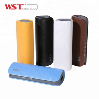 CE FCC approved portable mini phone charger 18650 cell power banks 2600 mah