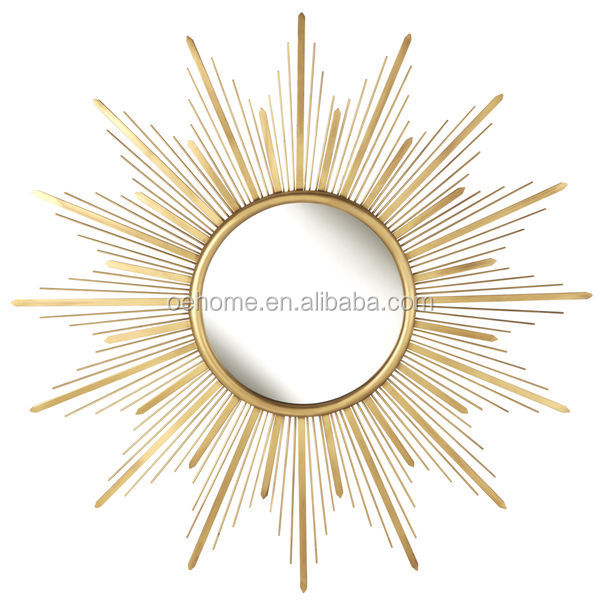 Gold Starburst Metal Wall Mirror Curved Product On Alibaba