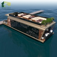 Luxury low cost designed floating prefab container restaurant house on water