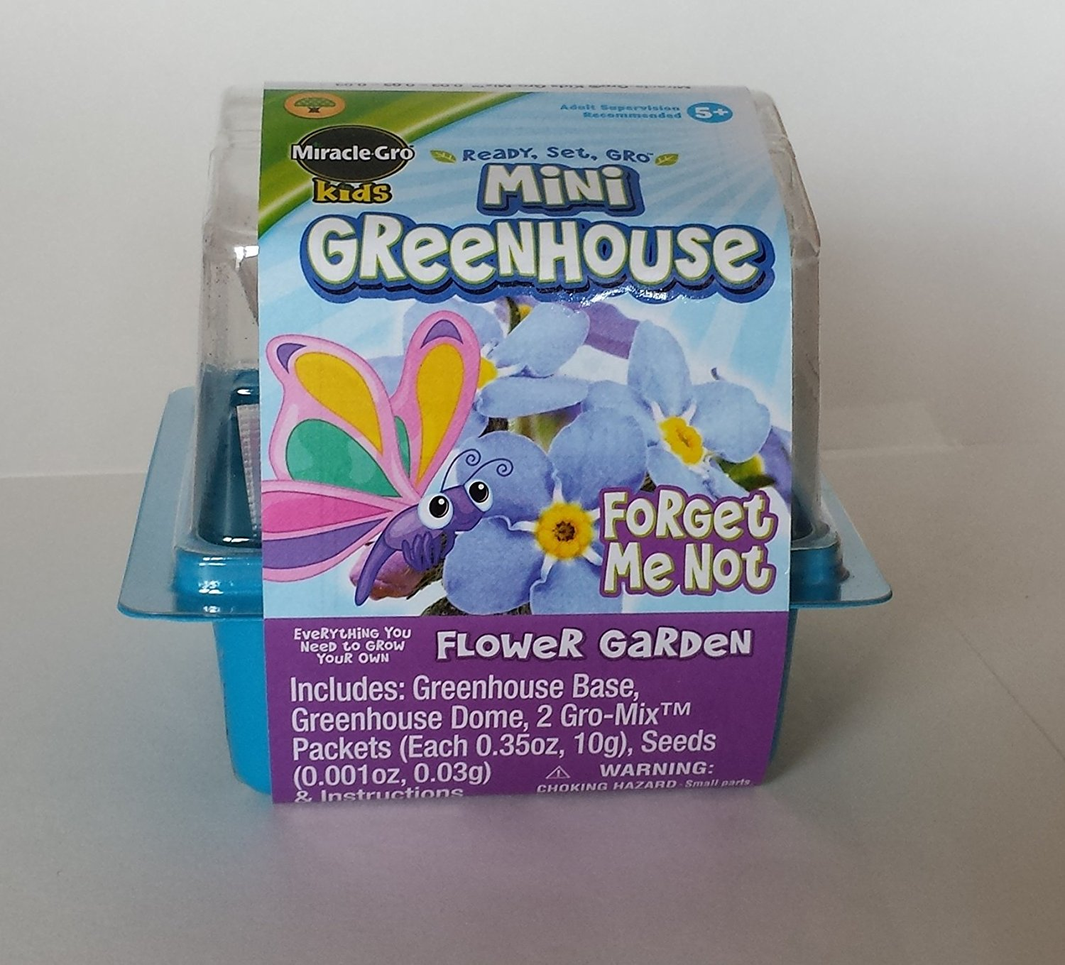 Miracle Gro Kids Mini Greenhouse Forget Me Not Flower Garden