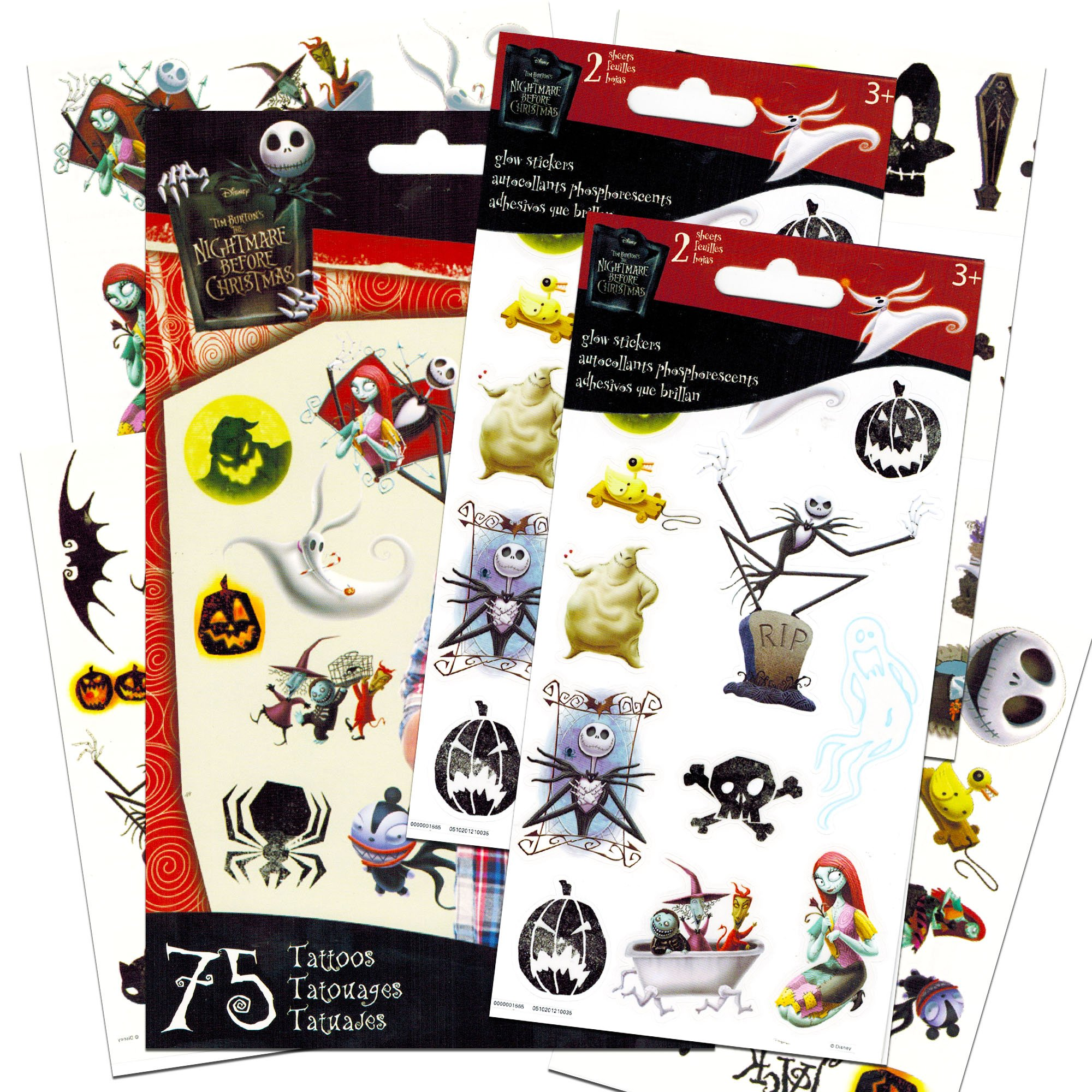 Buy Nightmare Before Christmas Temporary Tattoos and Stickers Party ...