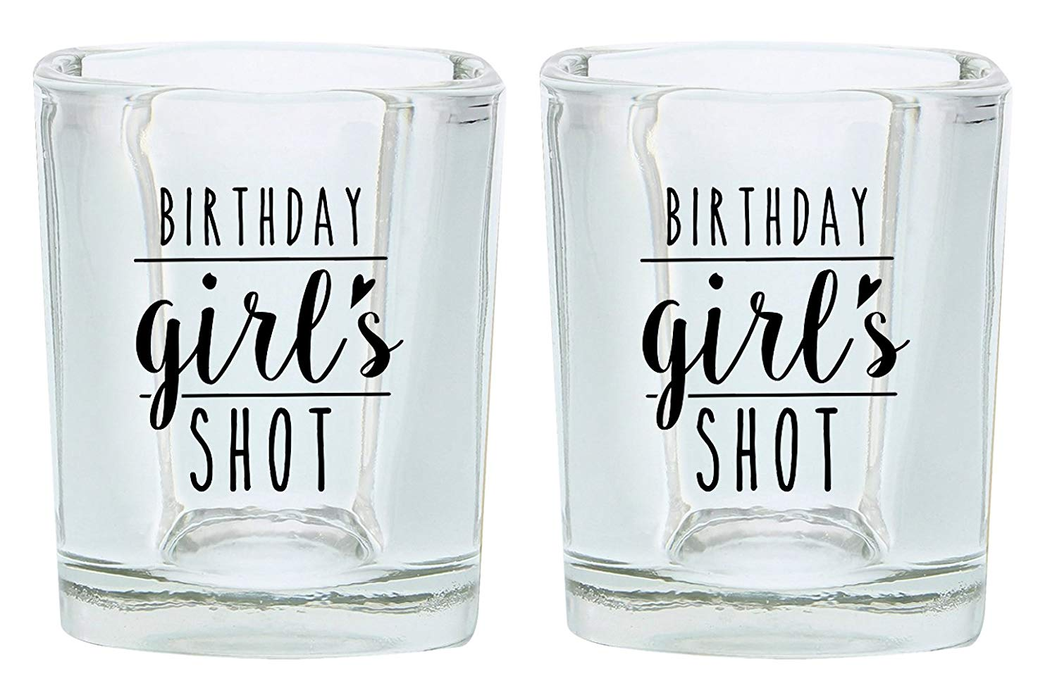 235dddc6a2 Get Quotations · Birthday Shot Glass for Women Birthday Girl 21st 30th 40th  Birthday Gift Shot Glasses 2-