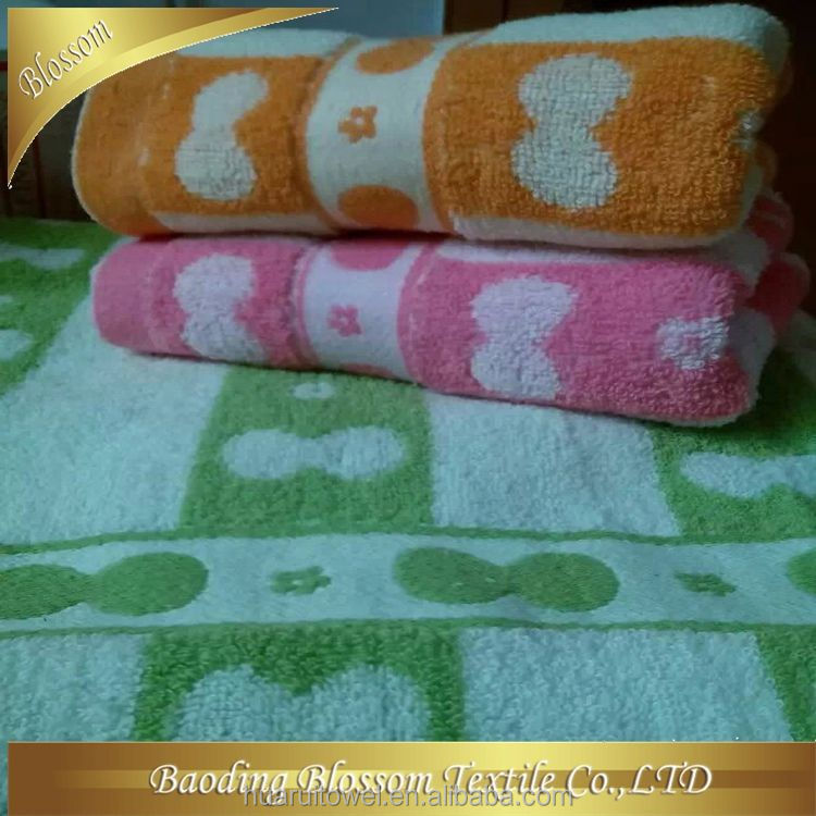 custom made cotton velour terry good quality 2015 new design wholesale durable hand towel basket