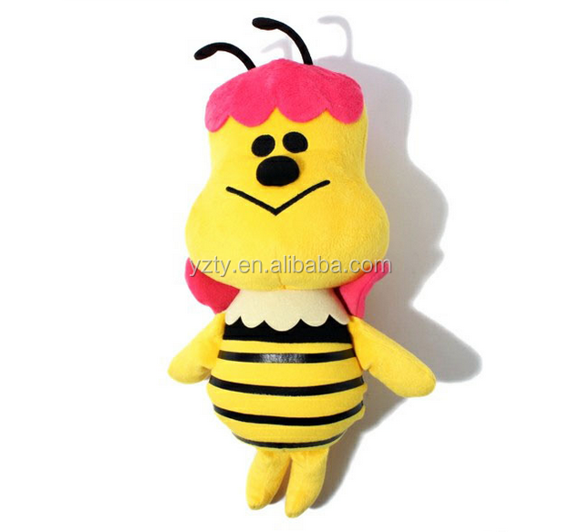 custom realistic carton style super soft toys bumble bee carton plush insect bee
