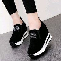 The new style Korean shoe classic slip on sports pantshoes canvas casual platform shoes
