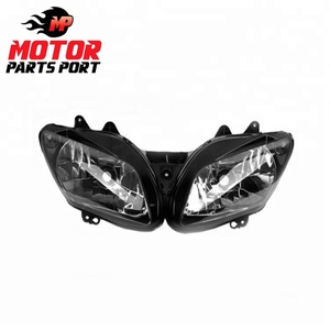 Plastic black motorcycle headlight assembly for Yamaha R12002-2003