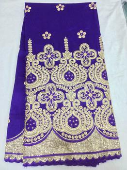 Cl3094-5 Purple Indian George Fabric Silk African George Fabric ...