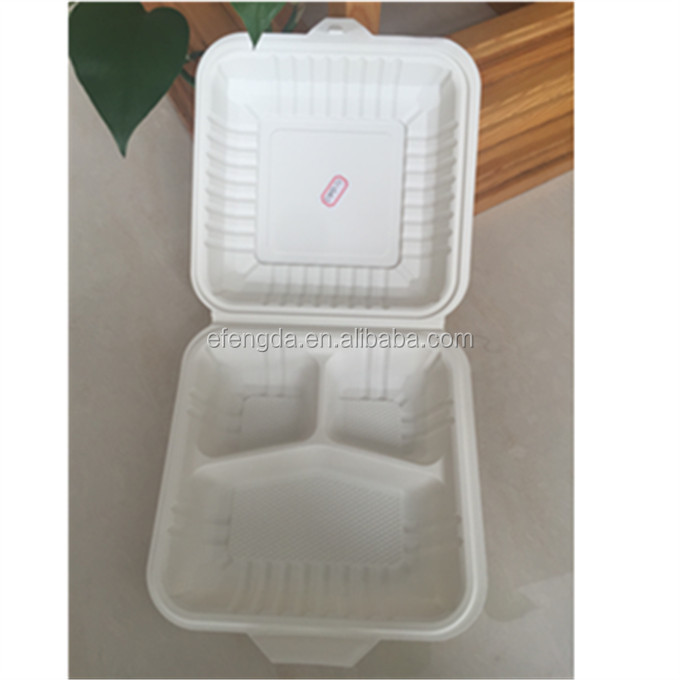 disposable plastic paper lunch food box