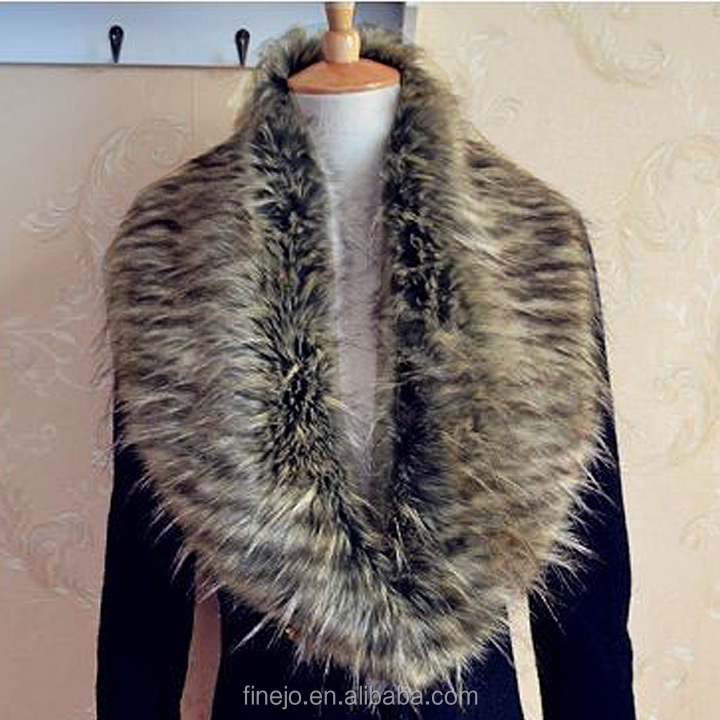 Women Luxury Warm Faux Fur Collar Shawl Wrap Winter Neck Scarf for Ladies Shrug Hotsale
