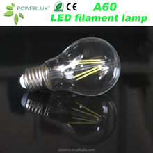 China Factory Price Led Filament Home Lighting bulbs A60/A19 6W Lamp