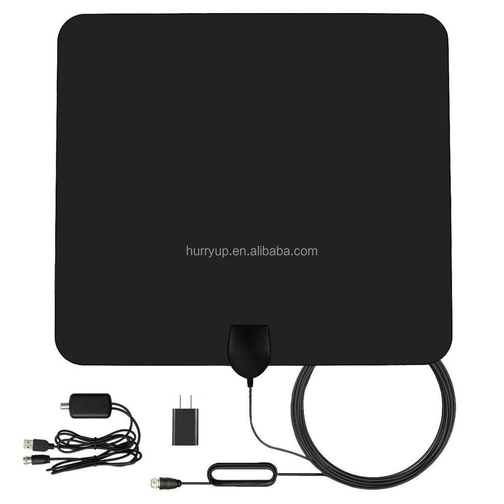 VHF UHF Antenna TV 50 Miglia Amplificato Adattatore Coassiale Cavo HD Digital Indoor Antenna TV