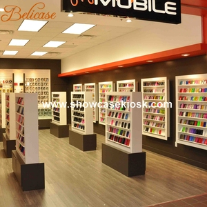 digital cell phone products wooden furniture display showcase