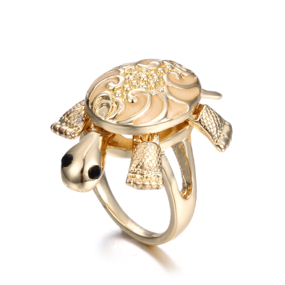 New design hot-sales item tortoise gold plated ring alloy glow in the dark finger ring фото