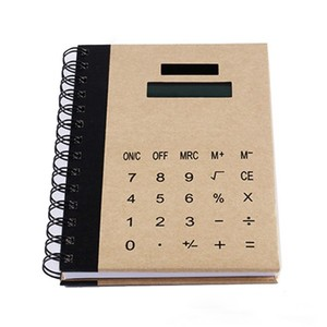 Creative multi-function custom notebook with calculator for office