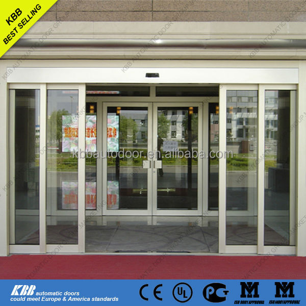 Club & Chamber automatic telescopic tempered glass sliding door CE/UL