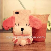 Plush rabbit decorate mobile phone case