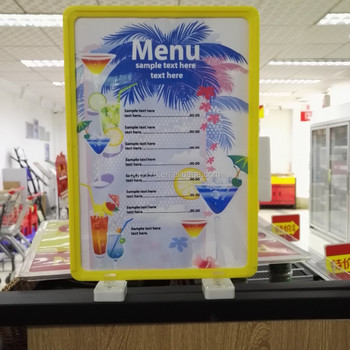 Supermarket Store Plastic Poster Frames For Promotion Display Buy