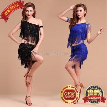 Bestdance Dance Dress Latin Tel Sequin Fringe Fler Ballroom Evening