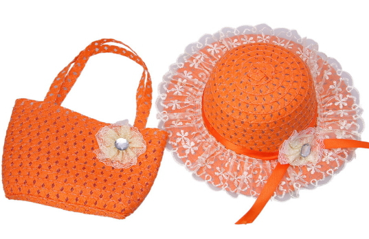 dd7aed2f281d0 Get Quotations · 2015 New Colorful Sun Visor Floppy Girls Straw Sun Hat  Handbag Suit with Floral Dimond Lace