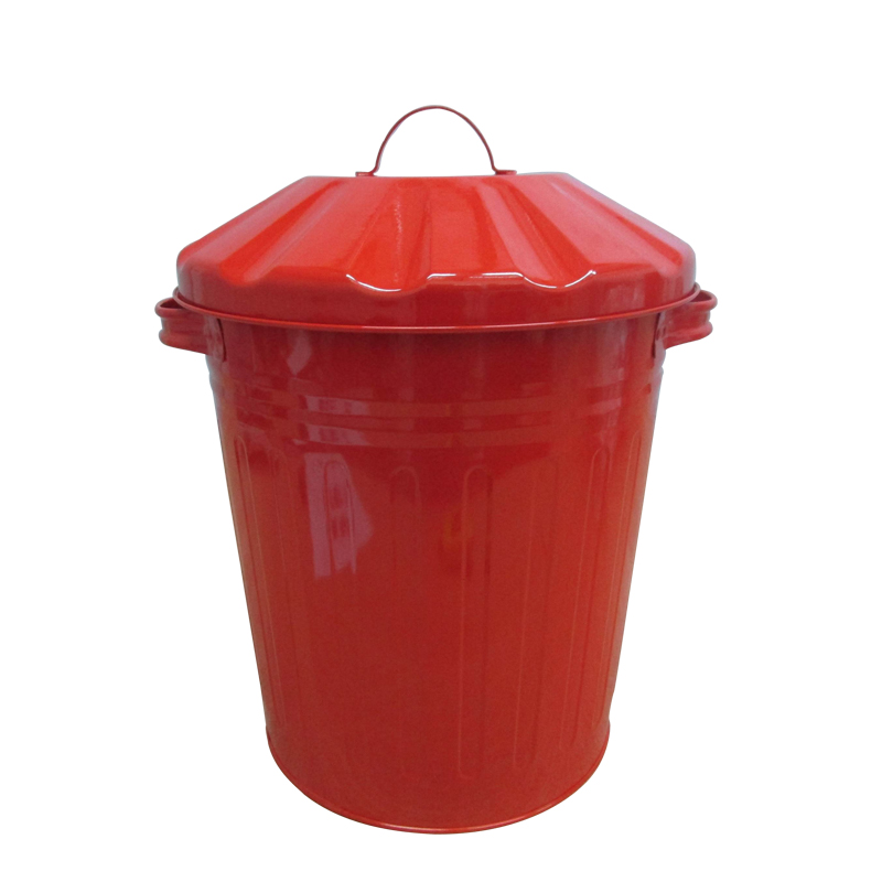 High quality Red metal 12L garden compost bin