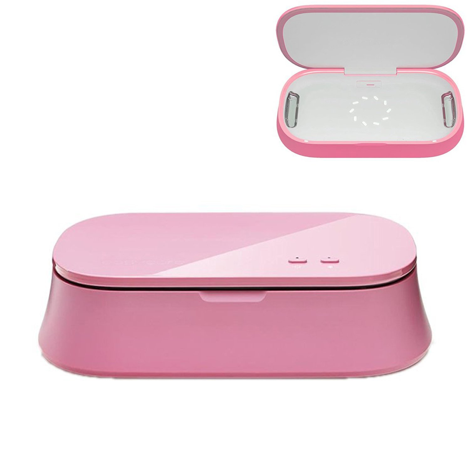 UV Sterilizer,Emontek UV Light Cell Phone Sterilizer Portable Mobile Phone Disinfector,Smartphone Sanitizer Cell Phone Cleaner,SPA House for Phone,Watch and Jewelry (USB Charger) (Pink)