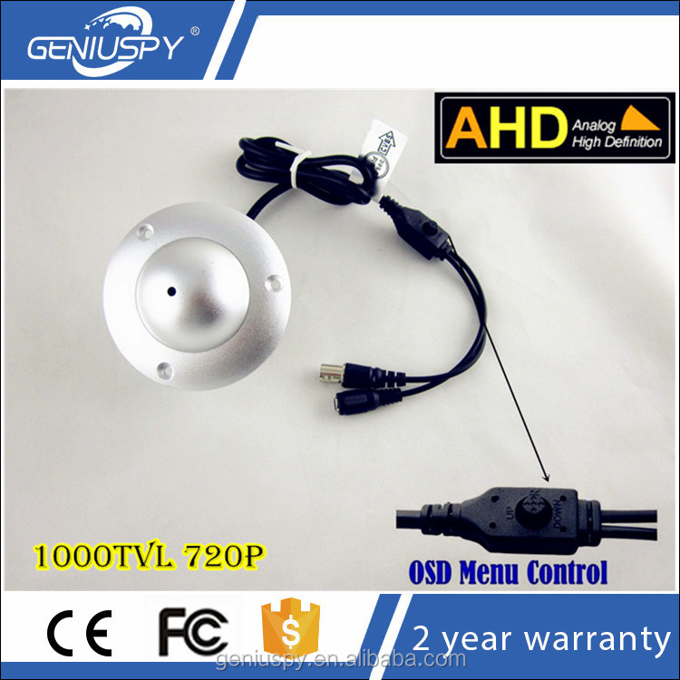 Shenzhen Factory Mini AHD Small Flying Saucer Hidden Color Dome Camera 720P 1000Tvl
