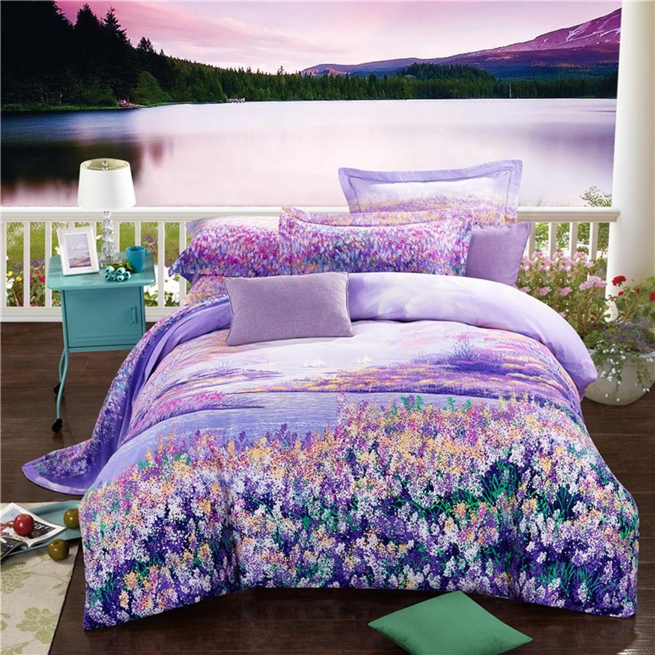 Online Get Cheap Lavender Bedspreads Aliexpress Com
