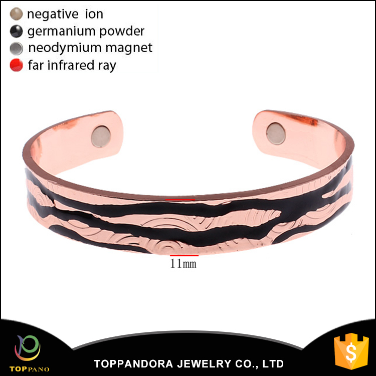 High Power Magnetic Copper Plain Cuff Bangle Various Design Men Adjustable Brass Bangle Cooper Bangle