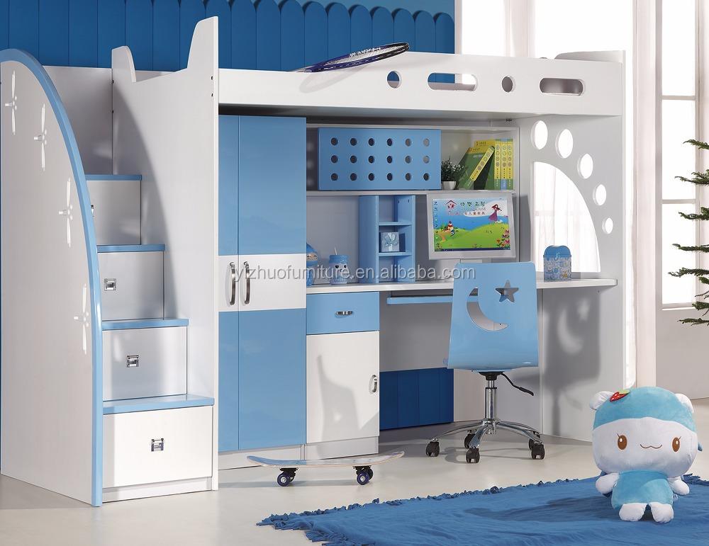 Venta al por mayor cama alta con escritorio abajo compre - Cama con escritorio abajo ...