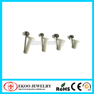 316L Surgical Steel Body Jewelry Attachments Labret Bars
